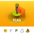 Flag icon in different style vector image