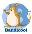 abc cartoon bandicoot vector image