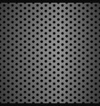 metal grid background with holes vector image