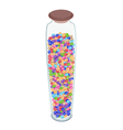 Different Colors of Chocolate Candies in Glass jar vector image