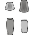 womens skirt vector image vector image