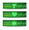 medical green banners set vector image
