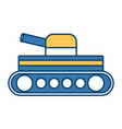 world war battle tank aiming cannon to side vector image