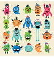 Freaky Hipster Monsters Set vector image