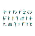 Set with people flat conception vector image