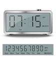Old style liquid-crystal alarm clock vector image