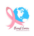 abstract breast cancer design vector image