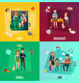 couple in daily routine concept vector image