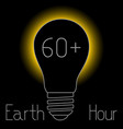 earth hour 60 minutes vector image