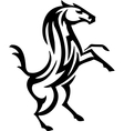 horse in tribal style - vector image
