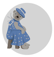lady teddy bear vector image