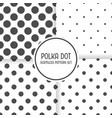 polka dot seamless pattern background set black vector image