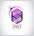 space agency purple logo vector image
