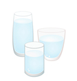 Three Glass of Water on White Background vector image