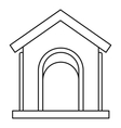 Toy house at playground icon outline style vector image