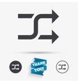 Shuffle sign icon Random symbol vector image