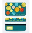 Collection of gift cards with circles background vector image vector image