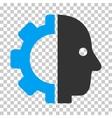 Cyborg Head Icon vector image