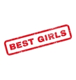 Best Girls Text Rubber Stamp vector image vector image