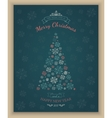 Greeting text and sketch snowflakes vector image vector image