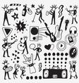 rock musicians doodle vector image