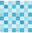 blue background with ethnic motifs vector image vector image