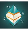 Abstract Infinite Rhombus logo template Corporate vector image