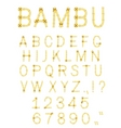 Vector bamboo font vector image