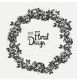 Vintage floral wreath vector image