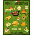 Mexican Food Menu vector image