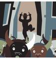 Bull running vector image