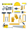 construction tools set industrial icons in vector image