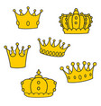 crown set isolated on white background vector image