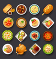 dishes icon set-3 vector image