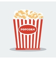 pop corn in red box vector image