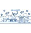 usa arizona mesa winter city skyline merry vector image