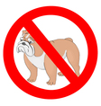 No dogs sign vector image