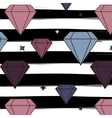 diamonds and crystals repetition pattern on vector image