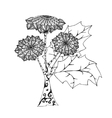 Abstract hand drawn sunflower vector image