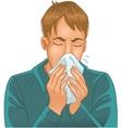 Sneezing man vector image vector image