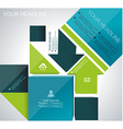brochure flyer magazine cover web page poster vector image vector image