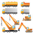 set of construction machinery vector image vector image