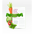 menu pattern with vegetables vector image