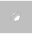 Folding fan computer symbol vector image