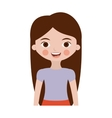 half body teenager with long hair vector image