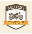 motorcycle shield vector image