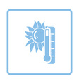 Summer heat icon vector image