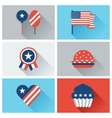 United States of America Independence Day icon set vector image