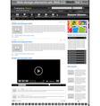 web design elements black 1 vector vector image