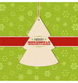 Christmas tree label background vector image